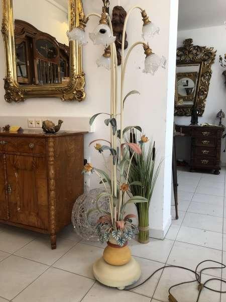 venezianische Stehleuchte Blumenleuchte bunt Blätterform Z1695