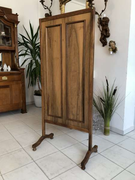 eleganter Nussholz Paravant Raumteiler Garderobe Z1788