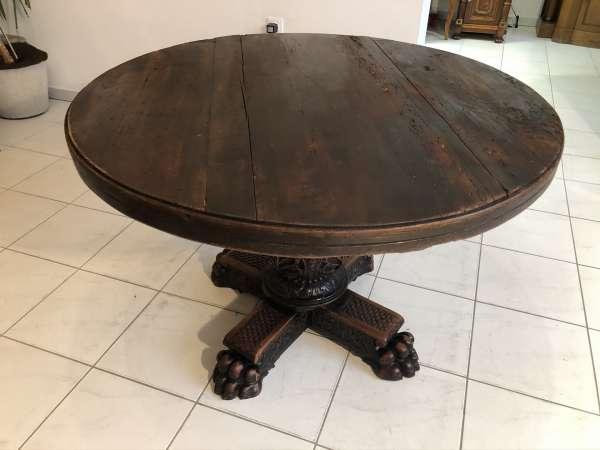 runder Rittertisch Tafeltisch Löwenfüßchen Esszimmertisch Herrenzimmer Z2117