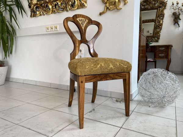 restaurierter Biedermeier Sessel Schaufelstuhl Traumstück = 1 Stk. E1049