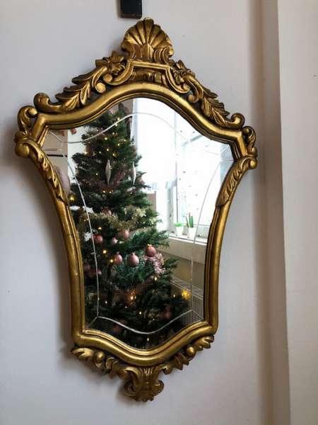 Wandspiegel Spiegel Barock Stil floral golden X2727