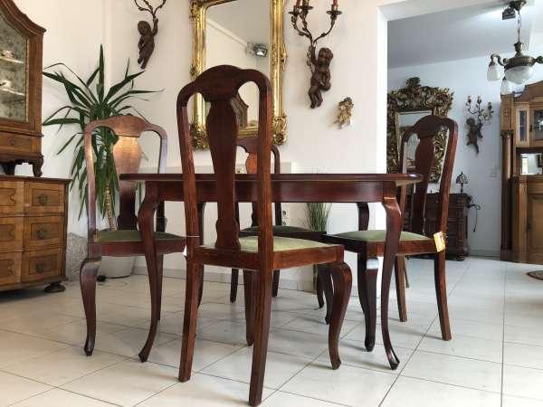 hübsche 5 teilige Art Deco Sitzgruppe Esstischgruppe Z1355