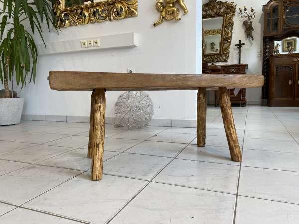 uriger Hacktisch Designer Tisch Bauerntisch Bauernmöbel E2104