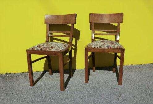 alte 2 stabile Sessel Stühle 50er Jahre Bauhaus Stil - 5483