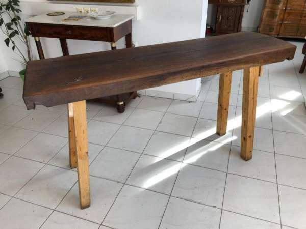 schwerer uriger Hacktisch Designer Tisch Bauerntisch Bauernmöbel X1465