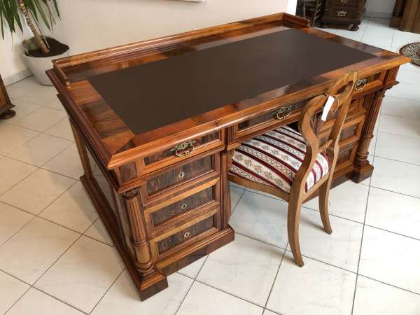 Gründerzeit Säulen Schreibtisch Sekretär Schreibmöbel Z1615