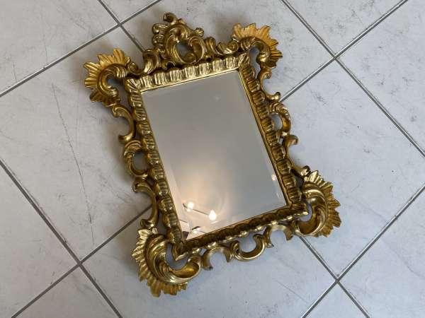 originaler Florentiner Spiegel Holzspiegel Rosenspiegel E2033