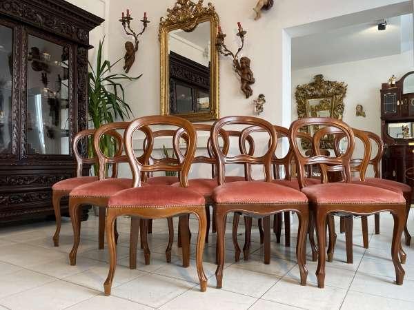 Ensemble 12 hübscher Barockstil Sessel Medaillonstühle A2677