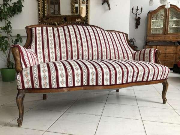 Spätbieermeier Sofa Diwan Liege Couch Traum Restauriert X1683