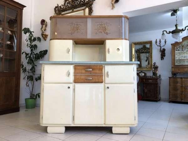 Original Vintage Küchenschrank Kredenz Vitrine Midcentury 40er 50er X1831
