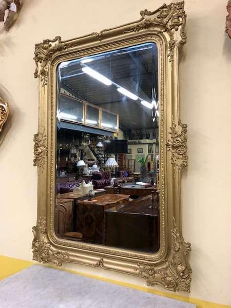 Biedermeier Spiegel Wandspiegel Original Golden X2619