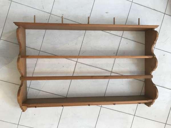 urige Stellage Bücherstellage Regal Ablage Fichte Naturholz Regal W1808