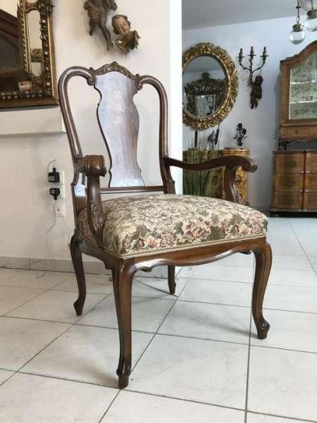 Chippendale Schreibtischsessel Armlehnstuhl Stuhl Sessel Fauteuil - X1052