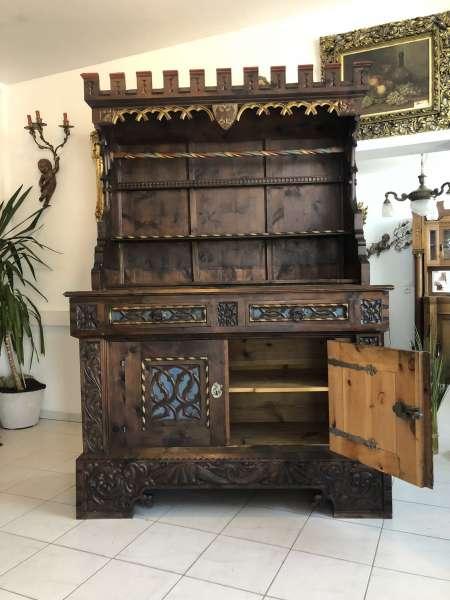 sakrales Etagere Stellage Küchenschrank beschnitzt aus BOZEN Z1877