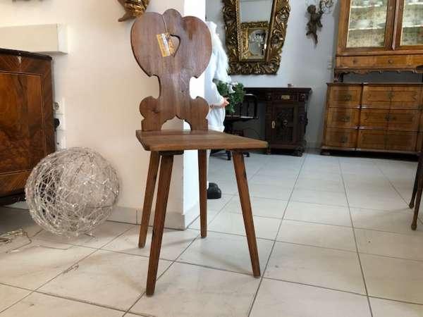 alter Bauernsessel Sessel Stuhl Herzerlsessel Bauernstube X2657