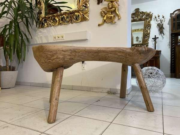 uriger Hacktisch Designer Tisch Bauerntisch Bauernmöbel E2171