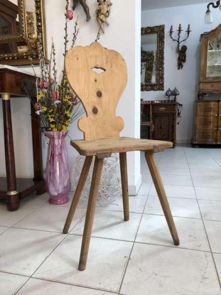uriger beschnitzter Bauernsessel Sessel Stuhl Bauernstube X1375