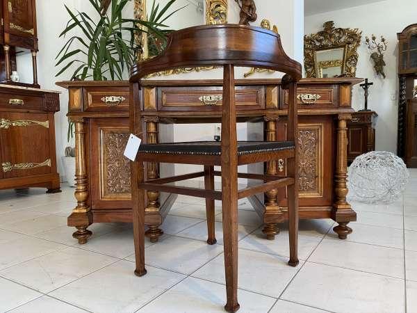 Gründerzeit Schreibtisch Sekretär Schreibmöbel Eichenholz E2151