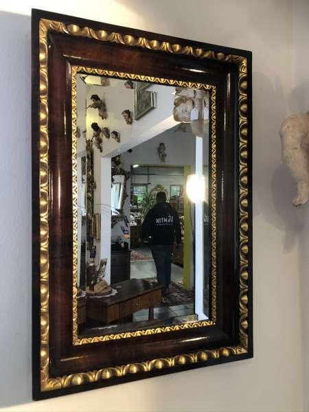 Biedermeier Spiegel Wandspiegel Original Nussholz Furniert E1340