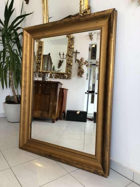 prächtiger Biedermeier Spiegel Holzspiegel original Z1314