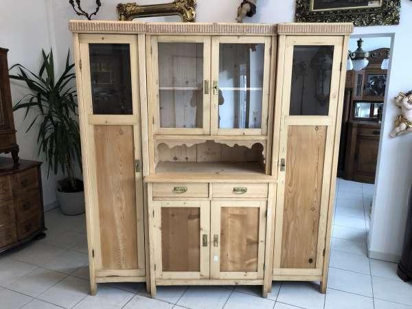 Jugendstil Küchenschrank Naturholz Garderobeschrank- Kredenz Z1208