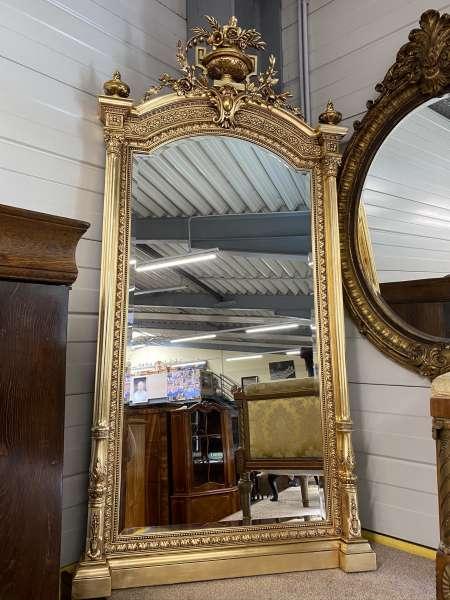 venezianischer Florentinerspiegel Designerspiegel um 1875 - Masse 225x118 E1752