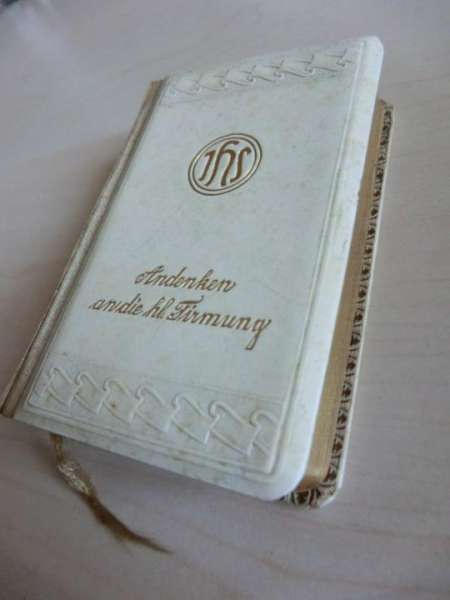 "Gebetsbuch ""Andenken an die hl. Firmung"" - Erinnerungsstück 93"