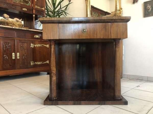 Konsole Tisch Anrichte Biedermeier Stil Wurzelholzmaserung E1000
