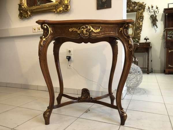 prächtiger restaurierter Tisch Barocktisch Pfeiferlbarock E1043