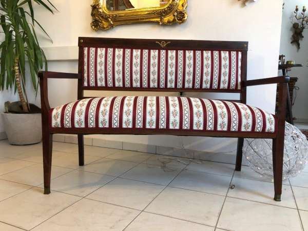 Jugendstil Sofa Diwan Couch Chaiselongue Liege Z1234