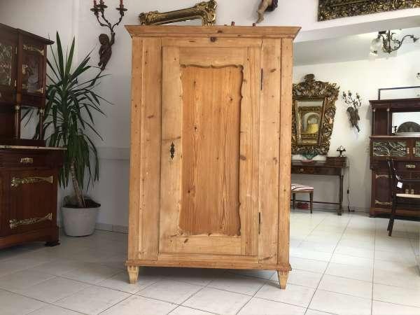 originaler Biedermeier Bauernschrank Naturholzschrank E1181