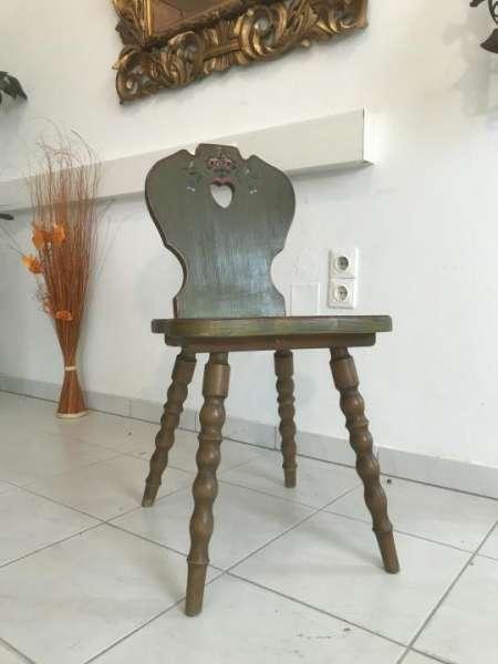originaler Voglauer Stuhl Sessel Herzerlstuhl hand bemalt W3316