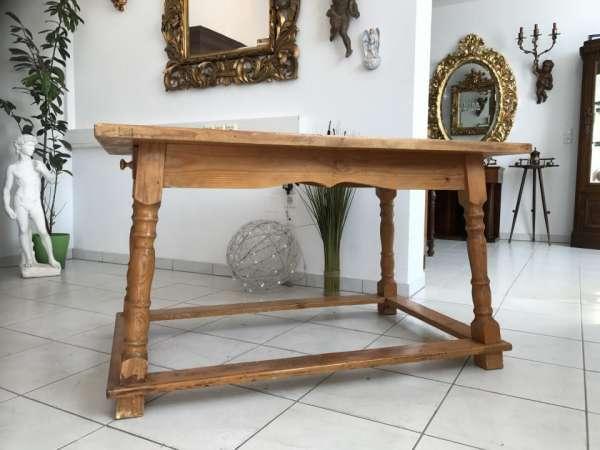 alter Bauerntisch Landhaustisch Tisch Teilmassiv Traum W1848