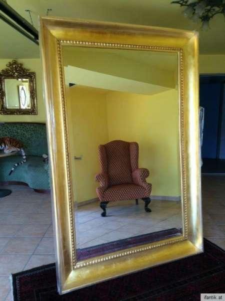 riesiger 23k vergoldeter originaler Biedermeier Spiegel Wandspiegel - 8286