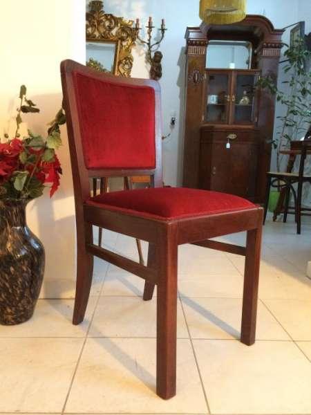 1 Stück Art Deco Stuhl Sessel Nussholz Restauriert Traumstück - W1290
