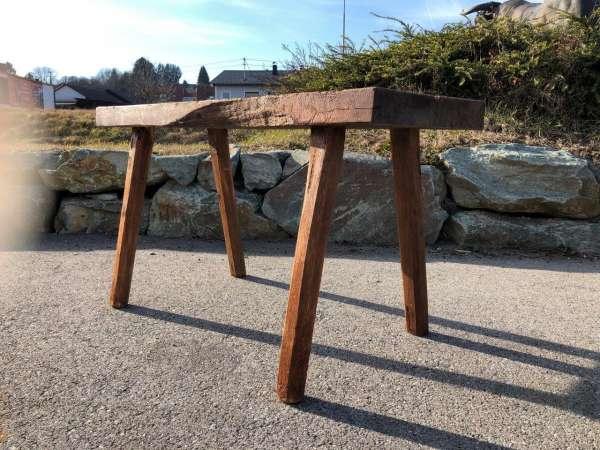 uriger Hacktisch Designer Tisch Bauerntisch Bauernmöbel Z1248
