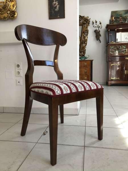 Biedermeier Sessel Nussholz Schaufelsessel Stilmöbel E1319
