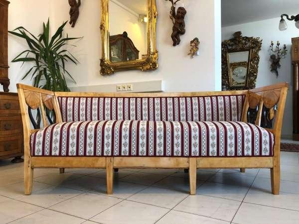 originales restauriertes Biedermeier Sofa Couch Z1233