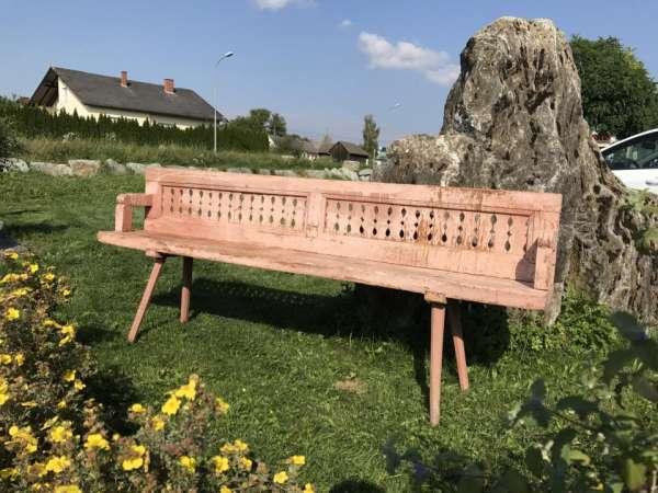 uriges Biedermeier Wende Bankerl Sitzbank Bauernbankerl Sitzbankerl - W3154