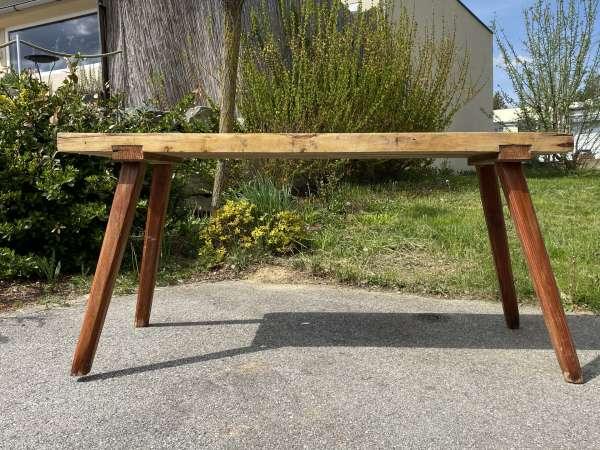 uriger Hacktisch Designer Tisch Bauerntisch Bauernmöbel A2578