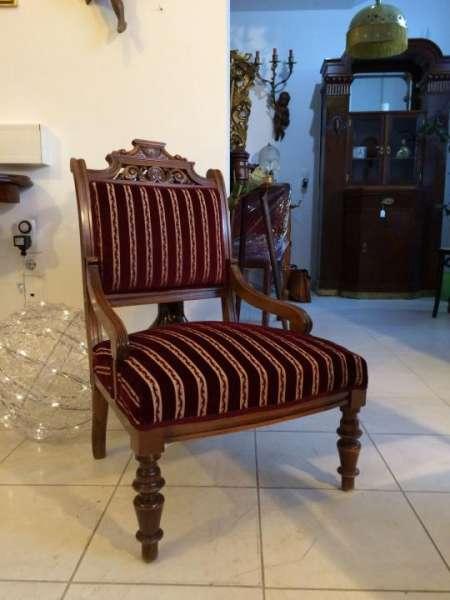 1 Stück Armlehnstuhl Gründerzeit Stuhl Sessel für Schminktisch - W1288