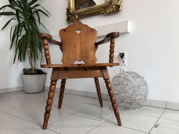 Bauernsessel Sessel Herzerlsessel Zirbenholz Z1388