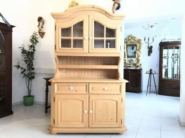 bäuerlicher Küchenschrank Naturholz Fichtenholz - Kredenz W1678