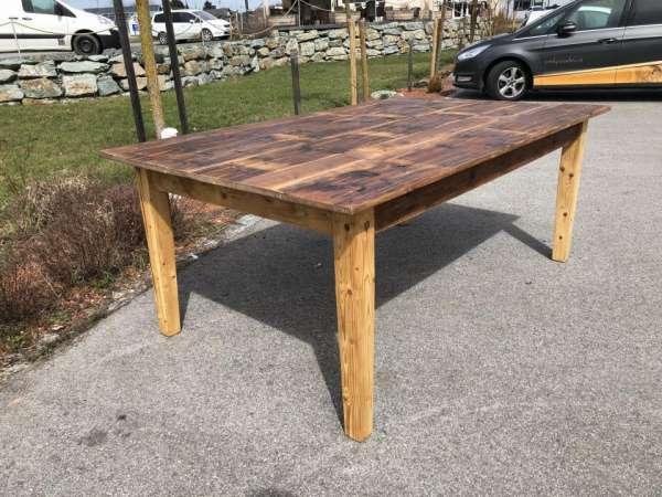 alter Tisch Bauerntisch Jogltisch Landhaustisch Naturholz Brettholztisch 2m X1459