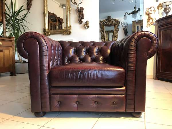 exclusiver Chesterfield Clubfauteuill Clubsessel Sessel Z2100