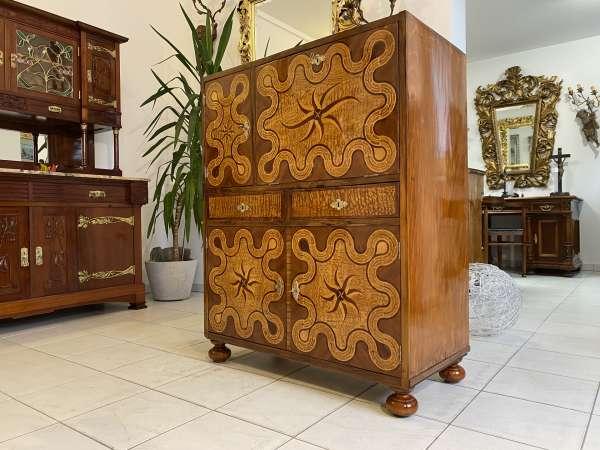 prächtige Art Deco Anrichte Barschrank Dekostück Sideboard E2340