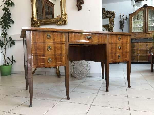 hübscher Sekretär Schreibtisch Barockstil Nussholz X2175