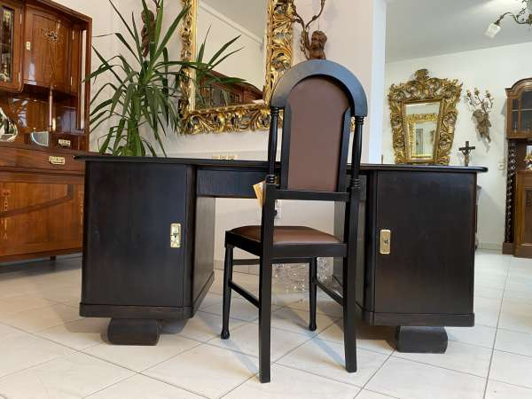 hübscher Sekretär Art Deco Schreibtisch Büroschreibtisch Freisteher E2159