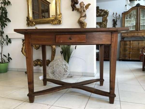uriger alter Bauerntisch Tafeltisch Landhaustisch Kirschholz X2197