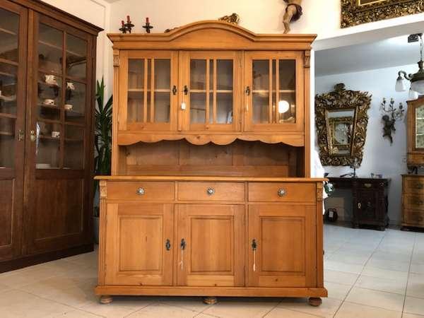 zierliches Küchenbuffet Küchenschrank Vitrine Landhausmöbel X2738